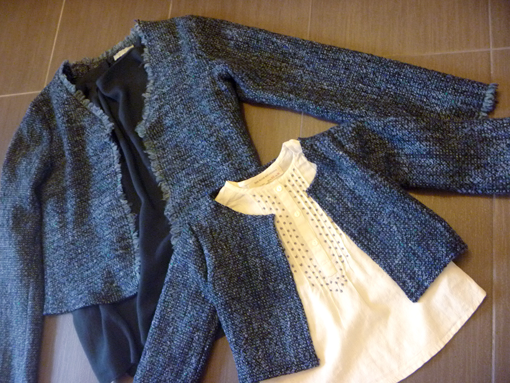 outfit mom and daughter, mamma e figlia, giacca chanel handmade, folliefollie, momeme
