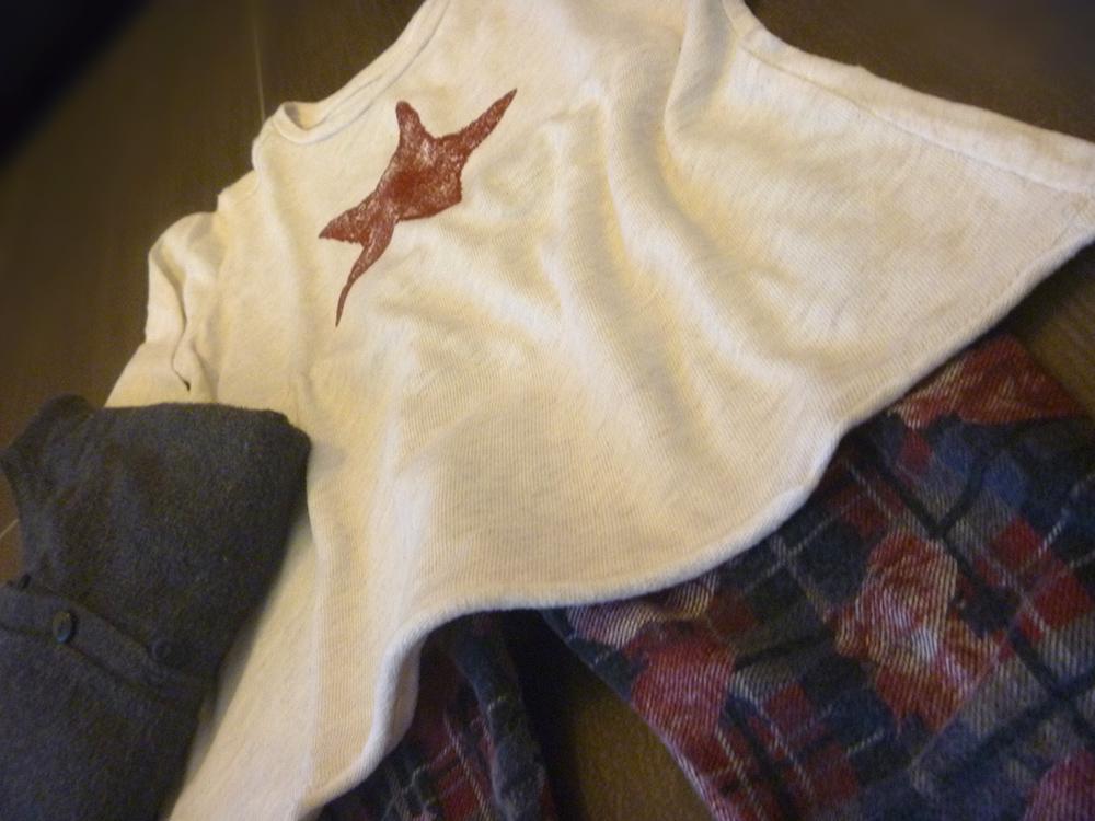 outfit bimba tartan, rose, t-shirt star glitter