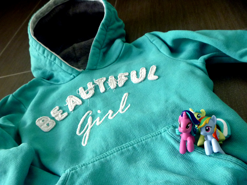 felpa verde acquamarina, cavallini little pony, outfit bimba, girl, momeme