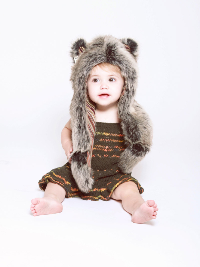 copricapo in eco pelliccia spirit hoods for little baby