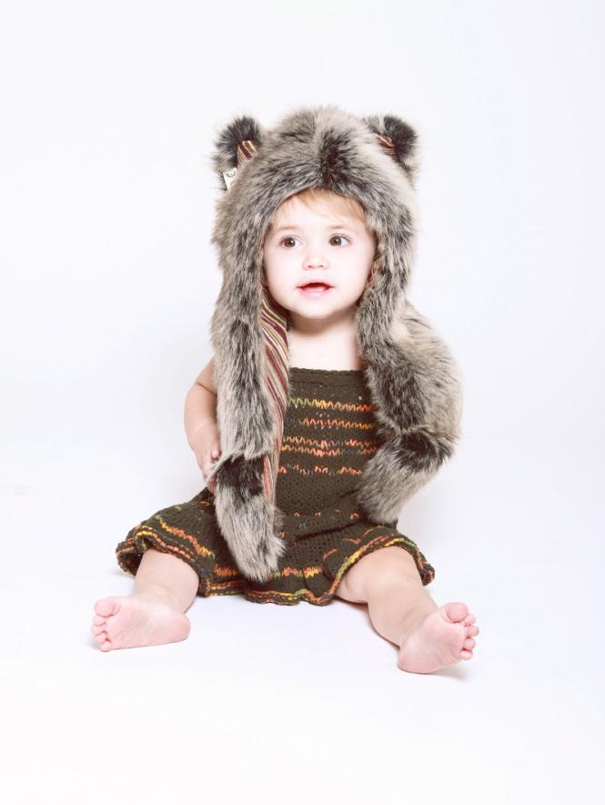 copricapo in eco pelliccia spirit hoods for little baby