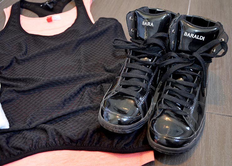 outfit donna palestra, firness, nike id personalizzate con nome
