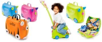 Innovativa valigia cavalcabile per bambini, capiente, comoda e versatile per viaggiare con i bambini in libertà