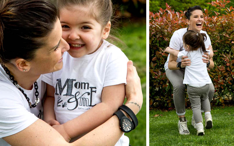 momeme_outfit_mamma_figlia_sneakers_leggings_pois_tshirt_gioco_amore