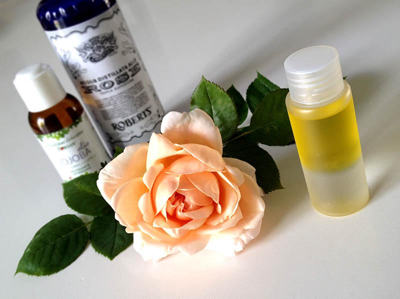 struccante naturale biascio handmade olio di jojoba acqua distillata di rose