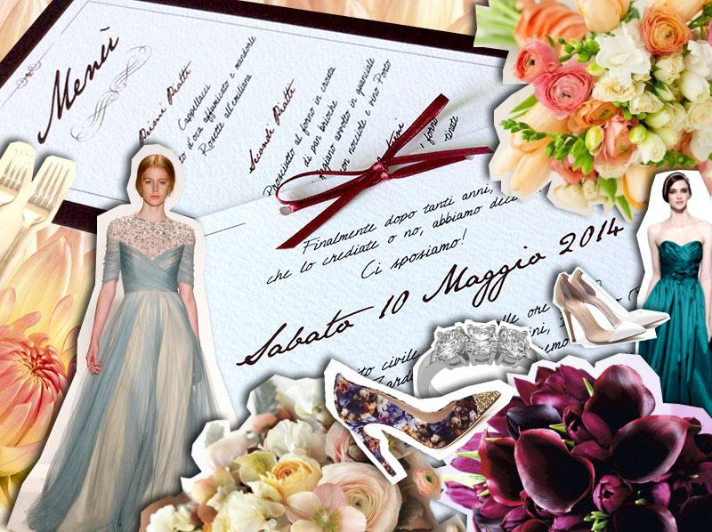 wedding, seconde nozze matrimonio con rito civile, fiori, vestito abito da sposa e anello trilogy
