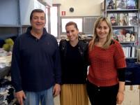 Sara mamma blogger Mom&me in visita a Catya, azienda italiana leader mondiale nella produzione di berretti e cappelli per bambini