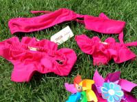 bikini realizzato a mano e coordinato per mamma e bimba