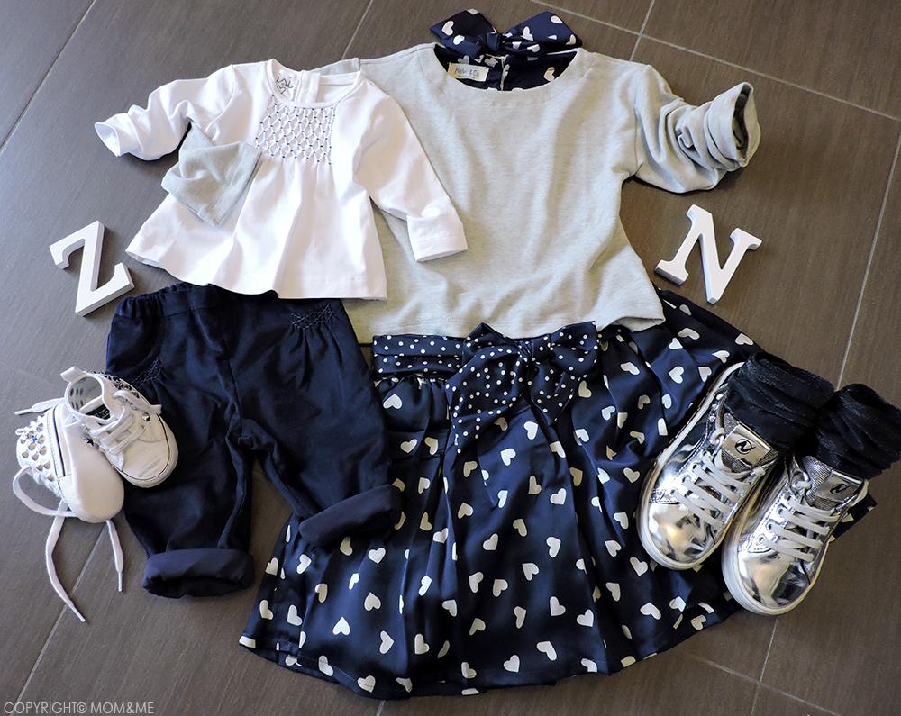 malvi_look_coordinato_sorelle_blu_gonna_cuori_pantaloni_neonata_fiocco_t-shirt_momeme